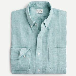 J crew slim Baird minute Irish linen shirt